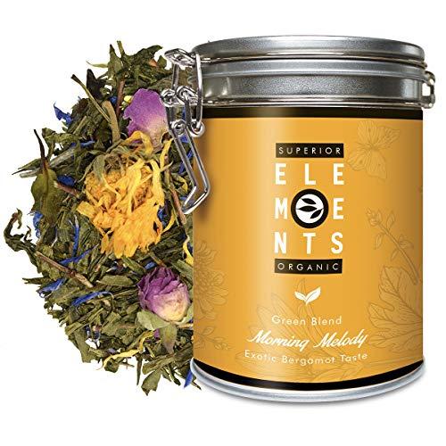 """""""Morning Melody"""" Mango Orange Bergamotte Grüner Tee Bio Lose, Aromatisierter Grüntee Dose 100 Gramm von alveus Premium Teas"""