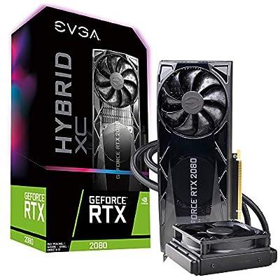 EVGA GeForce RTX 2080 XC Hybrid Gaming, 8GB GDDR6, HYBRID & RGB LED Graphics Card 08G-P4-2184-KR
