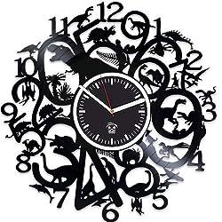 Kovides Dinosaur Vinyl Wall Clock, Godzilla Movies, Vinyl Record Clock, Birthday Gift for Kids, Dinosaur Clock, Best Gift for Husband, Wall Clock Modern, Valentines Day Gift for Boyfriend