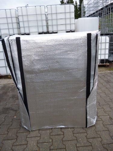 Hofer24 winterfeste IBC Frostschutzhaube MIT Klettverschluss/Thermohülle, Thermohaube für Wassertank, Regenwassertank 1000 Liter