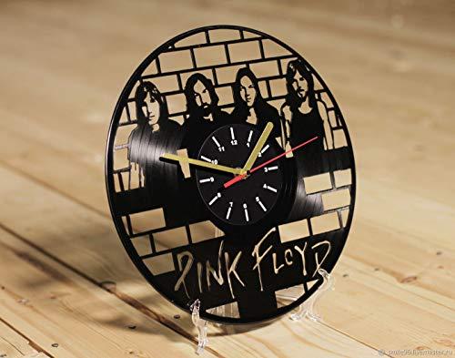 wtnhz LED-vinyl record wall clock Vinyl Wall Clock 7 Color Night Lamp Retro Wall Clock vintage clock wall decoration retro clock
