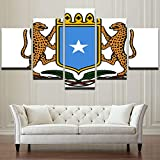 Chihie Moderne Wohnkultur Rahmen Afrikanischen Leoparden Bilder HD Gedruckt Somalia Abzeichen Leinwand Malerei Wandkunst Flagge Poster 20x30cm-2p 20x40cm-2p 20x50cm-1p Kein Rahmen