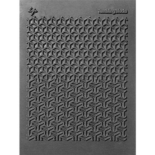 Great Create Lisa Pavelka Textur-Stempel, 10,8 x 14 cm, Tumbling Blöcke, 1 Stück