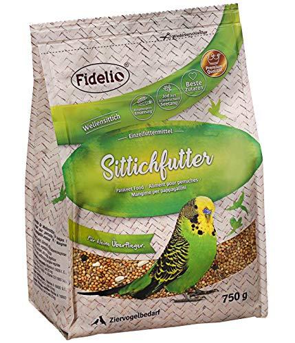 Fidelio Ziervogel-Futter, Sittichfutter, mit Jod aus isländischem Seetang, 750 g