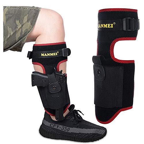 MANMEI Advanced Ankle Holster Concealed Leg Carry Gun Holster Right and Left Men Women