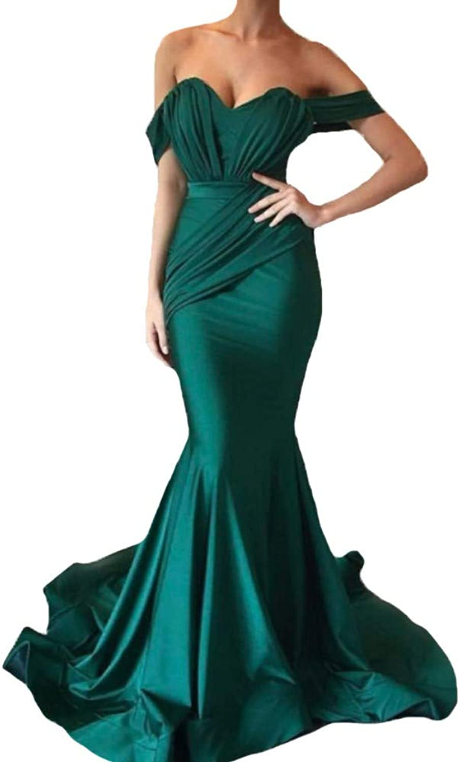 Liaoye Off Shoulder Prom Dresses Long for Women 2018 Mermaid Sexy Evening Dresses Formal Gowns