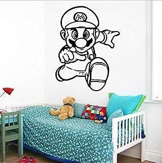 スーパーマリオビニール壁ステッカー壁紙ベビーキッズルーム寝室の装飾ホームパーティーの装飾ゲームポスター壁画43Cm X 56Cm