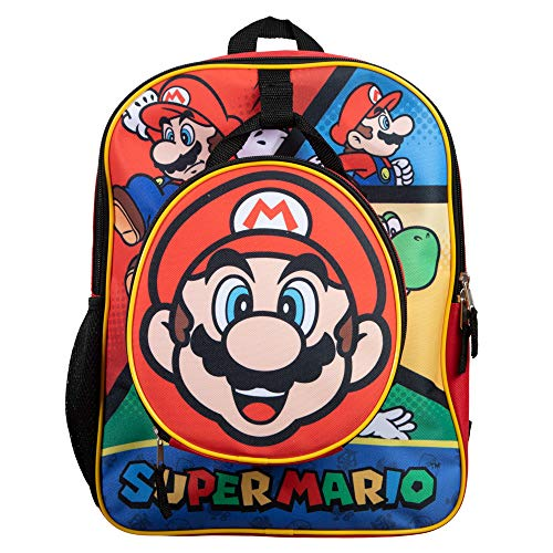 Kids Mario Backpack with Lunch Box Set
