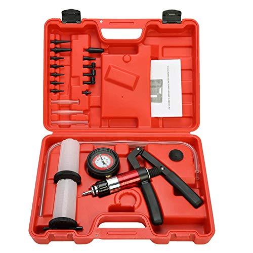 WPFC Auto Auto Handvakuumpistole Pumpe, Brems Bleeder Adapter Bremsflüssigkeitsbehälter Öl Tester Tools Kit, Mit Adapter Für Bremsentlüftungs Test Kit