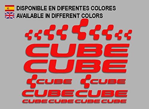 Ecoshirt 8H-LGIE-CU0A Pegatinas Cube F177 Vinilo Adesivi Decal Aufkleber Клей MTB Stickers Bike, Rojo