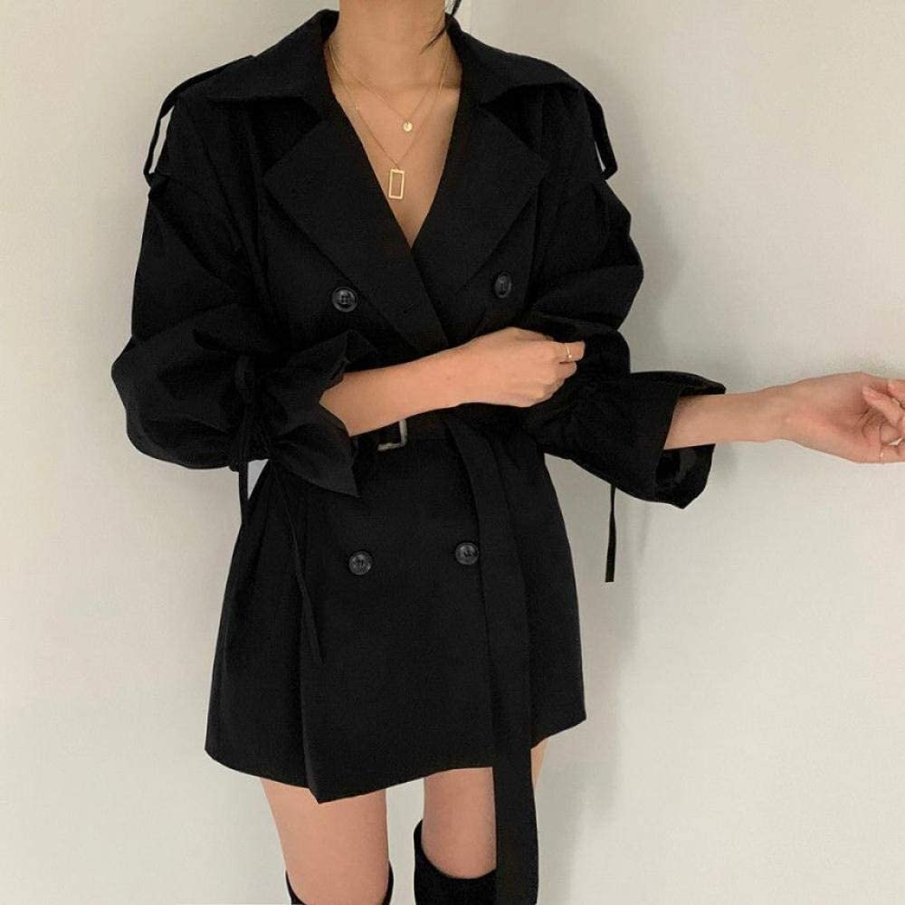 Trench coat Some reservation Women's Coat Trumpet Belted Loose Las Vegas Mall