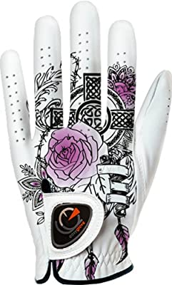 easyglove FASHION_TATOO-PURPLE-W Women's Golf Glove (White)
