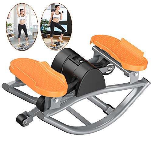 LANGYINH Mini Stepper Swing, Home Side Stepper naaimachine met LCD Display,Fitness apparatuur voor thuiskantoor,49 * 27 * 23Cm