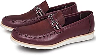 Sapato Casual Masculino Oxford Couro Sem Cadarço Confortável