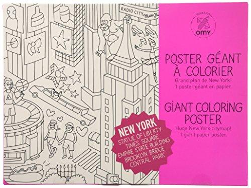 Omy Motif et de Jeu géant de coloriage Poster New York