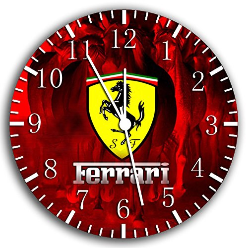 RUSCH Ferrari super Car Wanduhr 25,4 cm Will Be Nice Gift und Raum Wand Decor W442