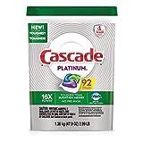 Cascade Platinum Dishwasher Detergent 92 Scent ActionPacs Net Wt 51.2 Ounce
