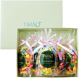 新宿高野 フルーツチョコレート5入EA (ギフト セット) 贈り物 [内祝い/お中元/手土産] 7種類のフルーツ 5袋入り
