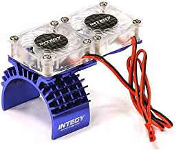 Integy RC Model Hop-ups T8534BLUE Motor Heatsink + Twin Cooling Fan for Traxxas 1/10 Slash 4X4 (6808)