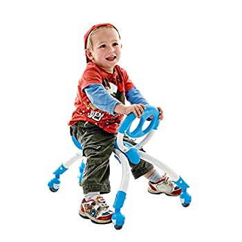 YBIKE Pewi Walking Ride On Toy - from Baby Walker to Toddler Ride On for Ages 9 Months to 3 Years Old YPIW3 Blue