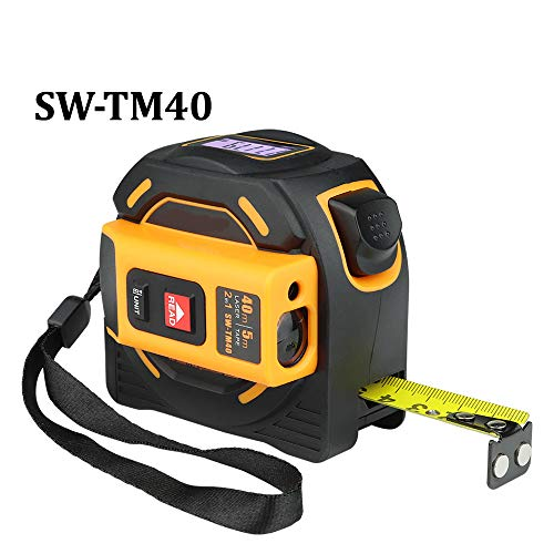 Laser Afstandsmeter Range Finder 40M 60M Laser Tape Meet Digitale Intrekbare 5m Laser rangefinder Ruler Survey Tool Sw-tm60