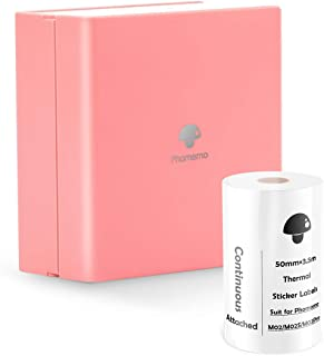 Phomemo Pocket Printer - M02 Small Bluetooth Thermal Printer, Compatible with iOS & Android, Mini Paper Printer for Workin...
