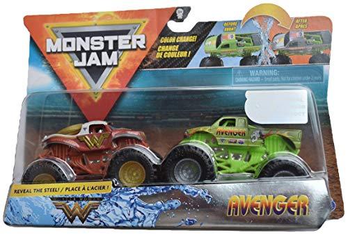 Monster Jam 1:64 Scale Color Change Wonder Woman Vs Avenger