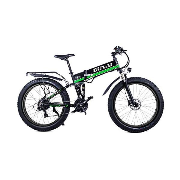 51hz6m8Z2eL. SS600  - GUNAI Fettreifen Fahrrad 26 Zoll Elektro Fahrrad 1000 Watt 48 V Schnee e-Bike 21 Geschwindigkeiten Llithium Batterie Hydraulische Scheibenbremsen Mountain E-Bike für Erwachsene