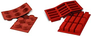 Silikomart 20.023.00.0060 SF023 Moule Forme Muffin Taille Moyenne 6 Cavités Silicone Terre Cuite & 20.026.00.0060 SF026 Mo...