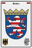 vielesguenstig-2013 Blechschild Schild 20x30cm - Hessen Wappen Fahne Flagge B&esland Deutschland
