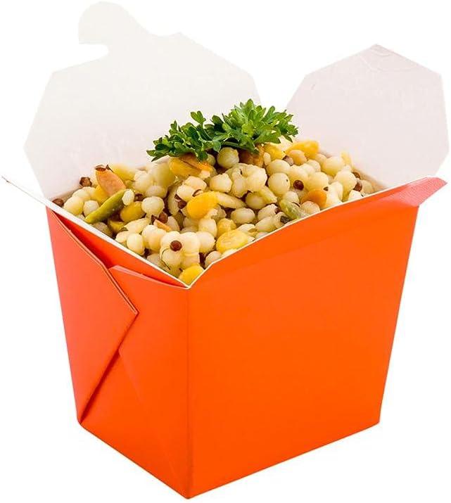 Bio Tek 8 oz Square Philadelphia Atlanta Mall Mall Tangerine Paper Out Conta Orange Take Noodle