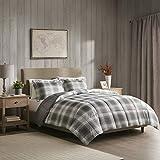 Woolrich Plaid Bed Comforter Set Ultra Soft Microfiber 3 Pieces Bedding Sets – Bedroom Comforters, King, Grey