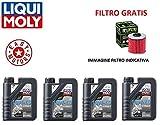 KIT TAGLIANDO MOTORE QUATTRO LITRI OLIO LIQUI MOLY + FILTRO OLIO MOTO GUZZI GRISO 850 06/10