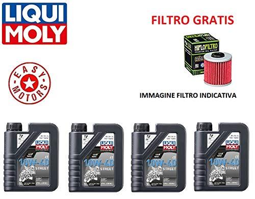 Genérico onderhoudsset Vier liter motorolie merk LIQUI Moly oliefilter Husqvarna NUDA R ABS 900 13