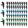 Plant Watering Devices, Drip Irrigation Emitters Fit Emitter Drip System, Detachable Irrigation Drippers Suitable for Irrigation of Trees and Shrubs in 3 Sizes, 4LPH, 8LPH, 16LPH (Black, Blue, Green)
