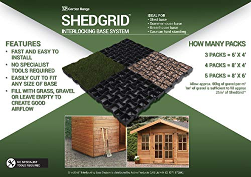Active Products A52293x5 SHEDGRID 8ft x 6ft, Black