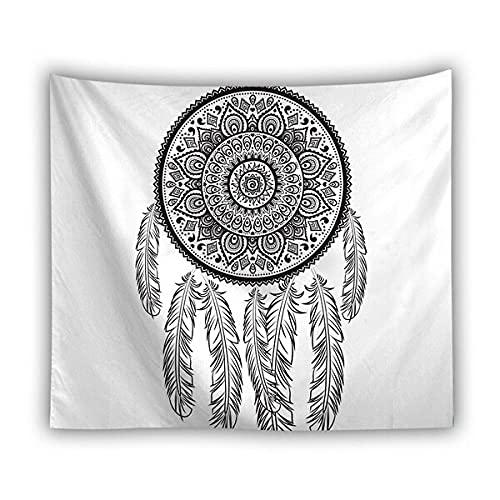 Estrella de cinco puntas en forma de mano tapiz blanco negro dormitorio decoración del hogar sala de estar dormitorio pared tela de fondo A5 73x95cm