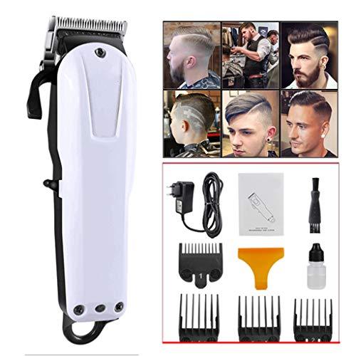 ZCFXGHH sans Fil Tondeuse à Cheveux pour Hommes SUPRENT, Kit de Coupe de Cheveux Professionnel avec 2000mAh au Lithium-ION, en Acier Inoxydable Lame, Tondeuse avec Lock-in Longueur,Blanc
