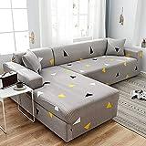 MKQB Funda de sofá Chaise Longue, Funda de sofá elástica con combinación de Esquina en Forma de L, Funda de sofá Antideslizante con Envoltura hermética NO.2 S (90-140cm