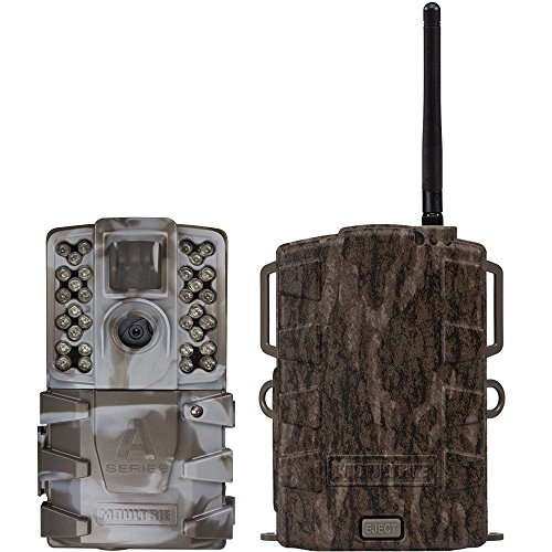 Moultrie A35 14MP 60' HD Video LowGlow IR Game Trail Camera + Mobile Field Modem