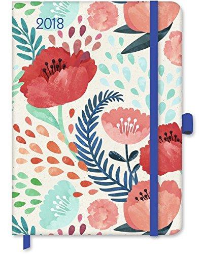 Floral 2018 - GreenLine Kalender, Taschenkalender, Buchkalender - 16 x 22 cm: GreenLine Buchkalender