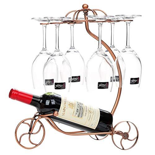 XJZxX Metall-Weinglashalter Stemware Rack Tischplatte Freistehende Stapelbare Weinglas Metallregal...