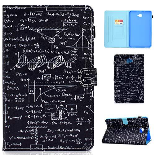 Succtop Custodia Galaxy Tab A6 Cover di Pelle PU Funzione Sonno/Svegliati Auto Custodia Porta Penna Portafoglio Cover Tablet per Samsung Galaxy Tab A 2016 10.1 Pollici SM-T580/SM-T585 Equazione