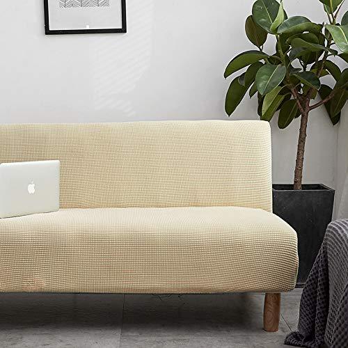NOBCE Fundas elásticas Funda de sofá elástica seccional para Sala de Estar Funda de sofá en Forma de L Funda de sillón Cremoso-Blanco 130-155CM