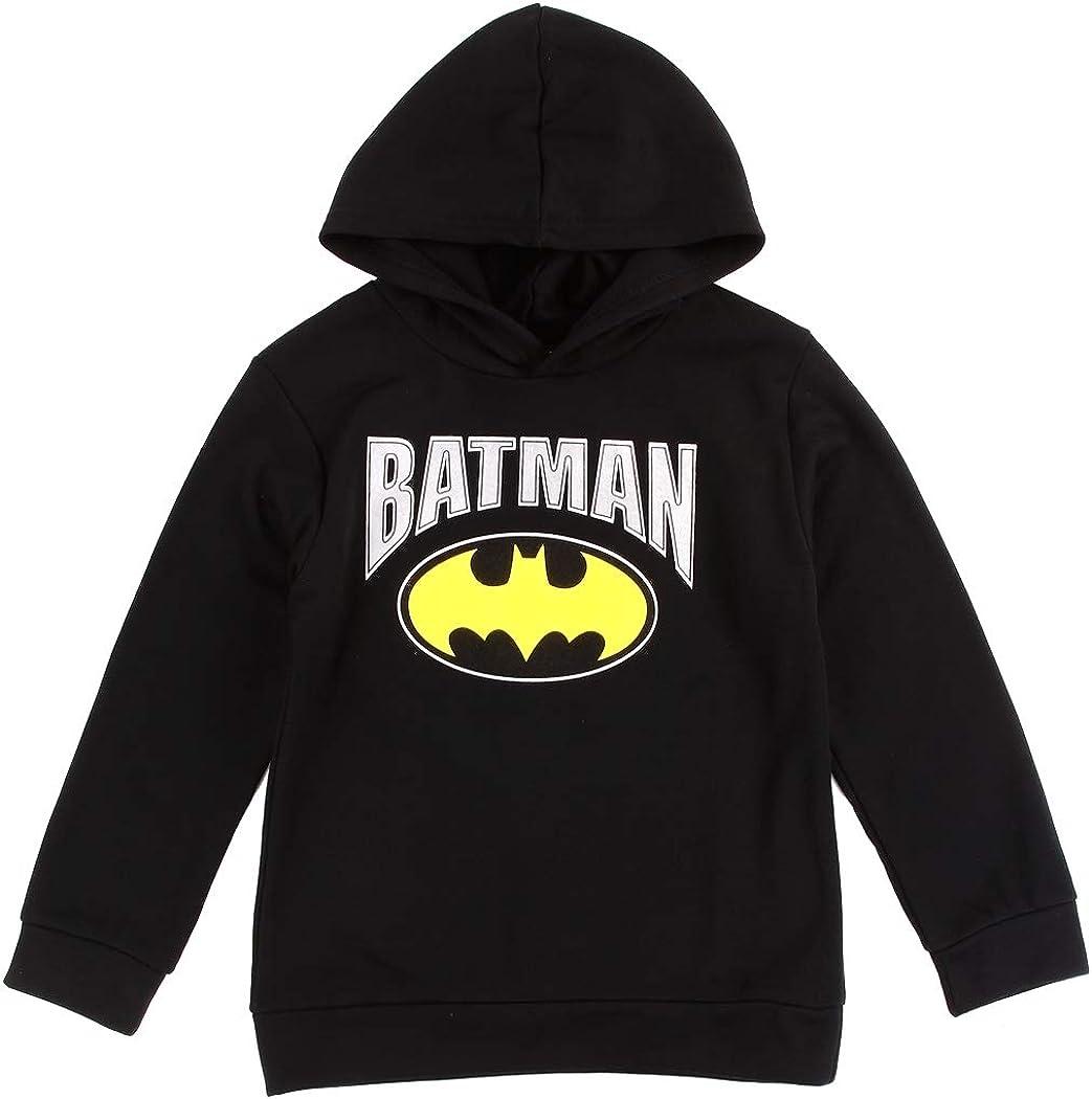 DC Comics Batman Black Boys Fleece Hoodie. Boys Sizes 4-7. Batman Sweatshirt. Size 5