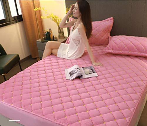 Diepe zaklakens, Coral fleece bedovertrek, dik gewatteerd plus fleece bedovertrek, flanellen oversized matrasbeschermer-F_90x200cm + 25cm