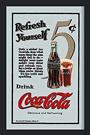 Coca Cola 5 Cent Refresh Yourself Nostalgie Miroir De Bar Miroir Bar Miroir  22 X 32