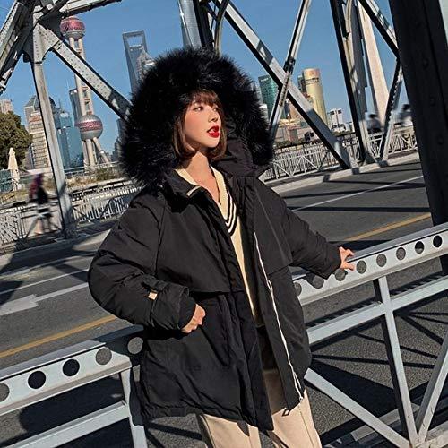 WFSDKN Womens Parka Jas 2019 Faux Bont Kraag Korte Parkas Vrouwen Losse Down Katoen Jassen Winter Hooded Jassen Zwart Bordeaux Sneeuw Outwear