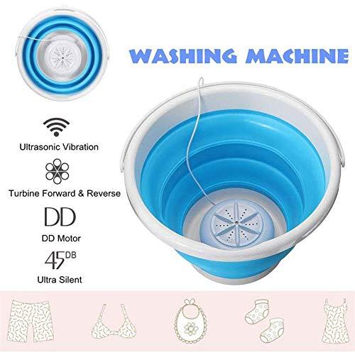 N/L Tragbare Mini-Turbo-Waschmaschine mit Faltbarer Ultraschall-Turbinenwaschanlage, USB-betriebener Mini-Reisewäschewaschanlage, Mini-Turbo-Waschmaschine für Wohnheime in Campingwohnungen