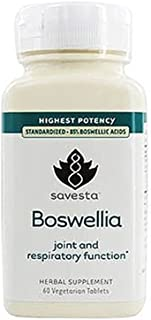 Savesta Boswellia Joint and Respiratory Function Highest Potency 60 Vegetarian